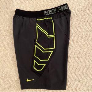 "Nike Vapor Flex 8"" Men's Training Shorts Volt/Blk"